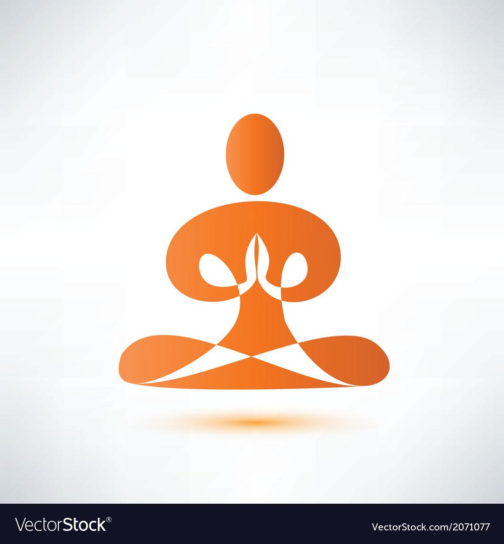 Yoga meditation symbol