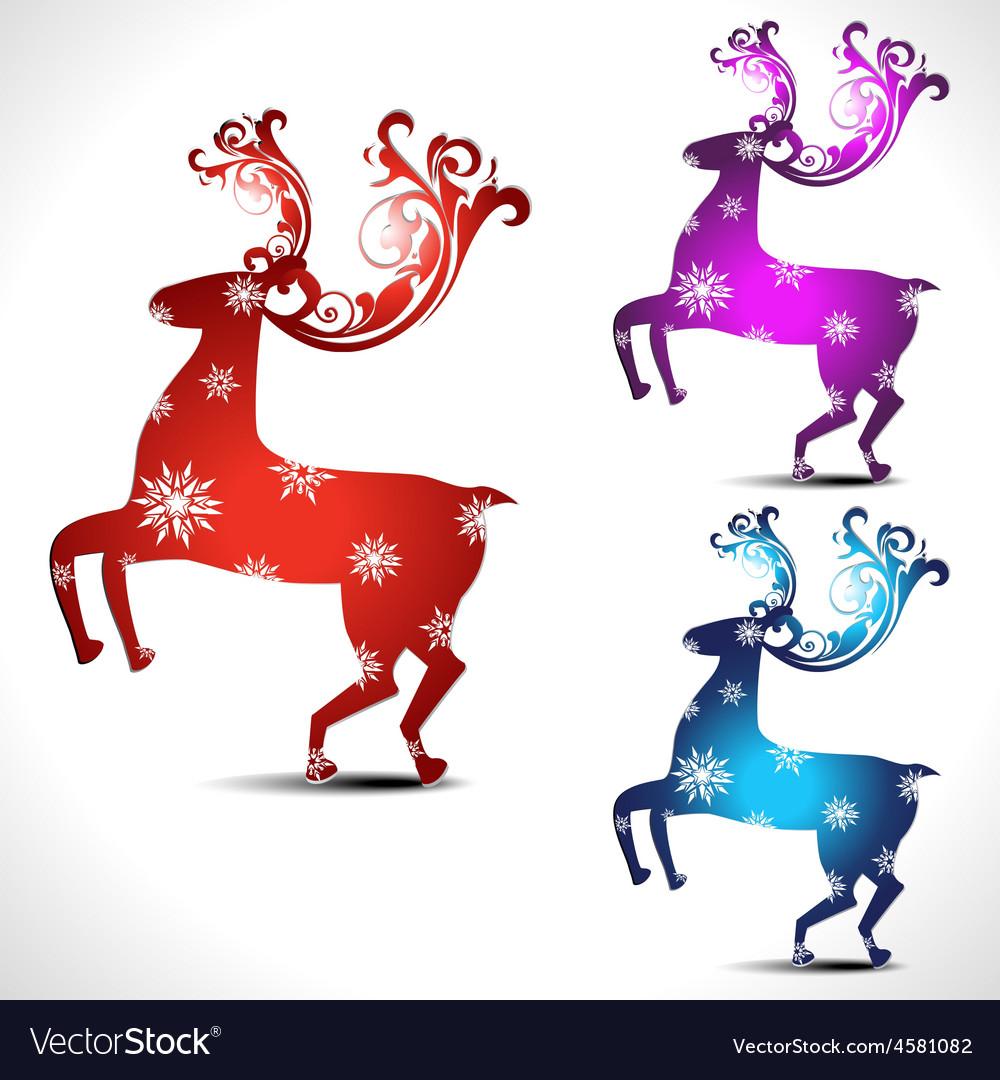 Artistic deer vector image