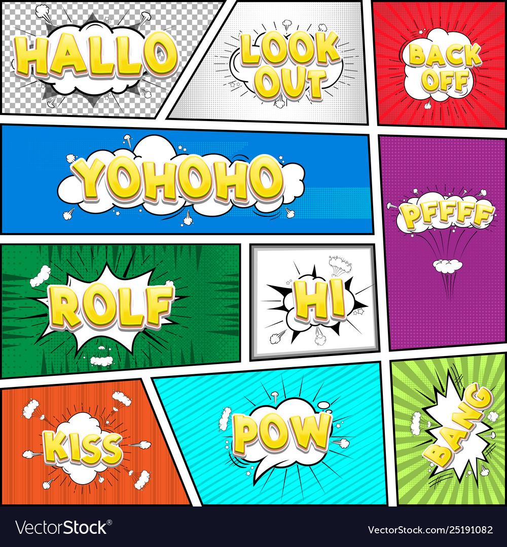 Comic dialog cloud text pop-art