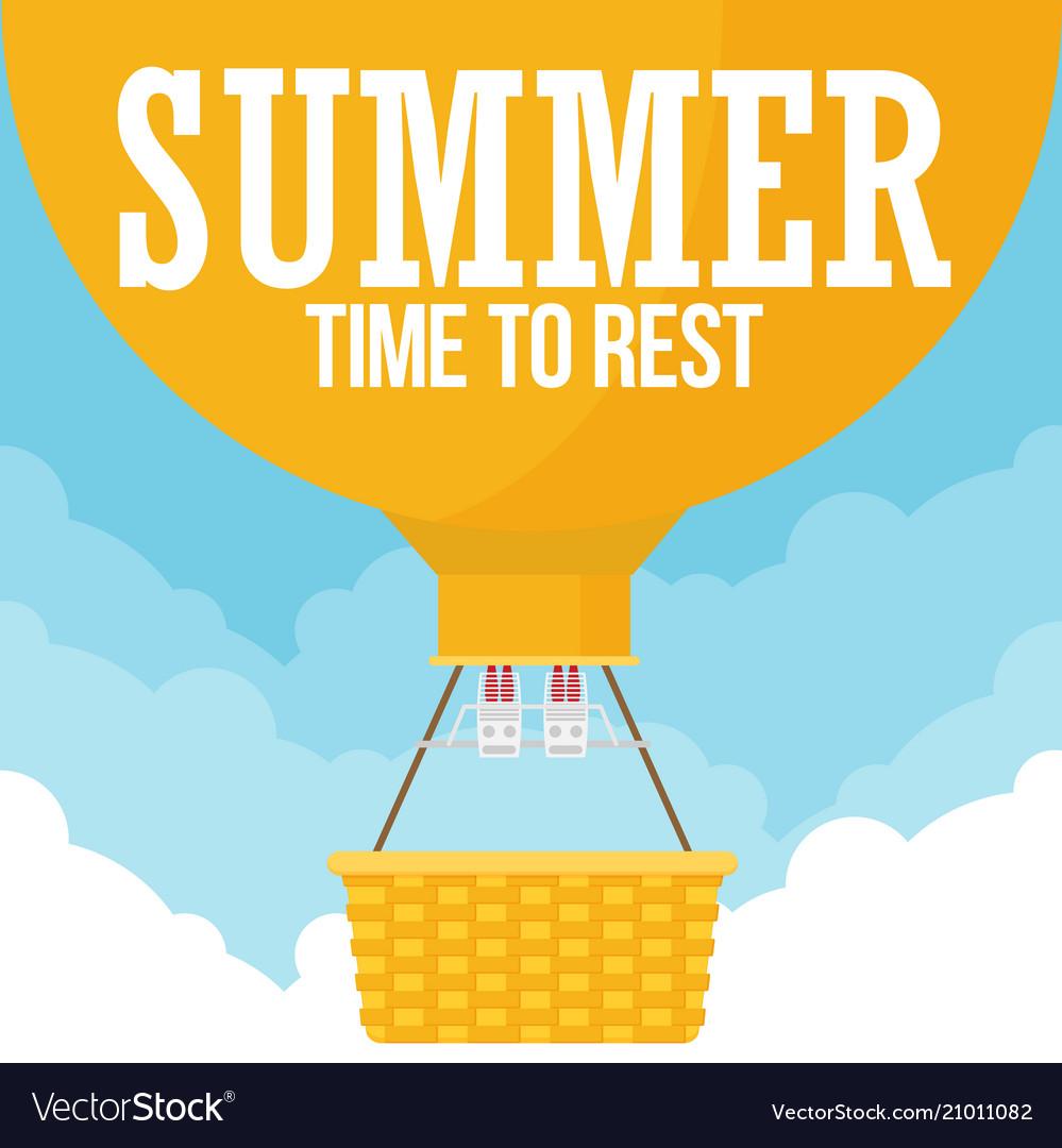 Hot air balloon planning summer vacations tourism