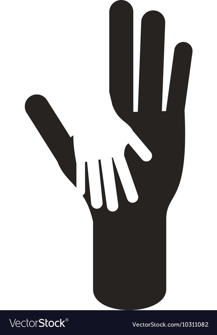 Open hands icon vectorimage