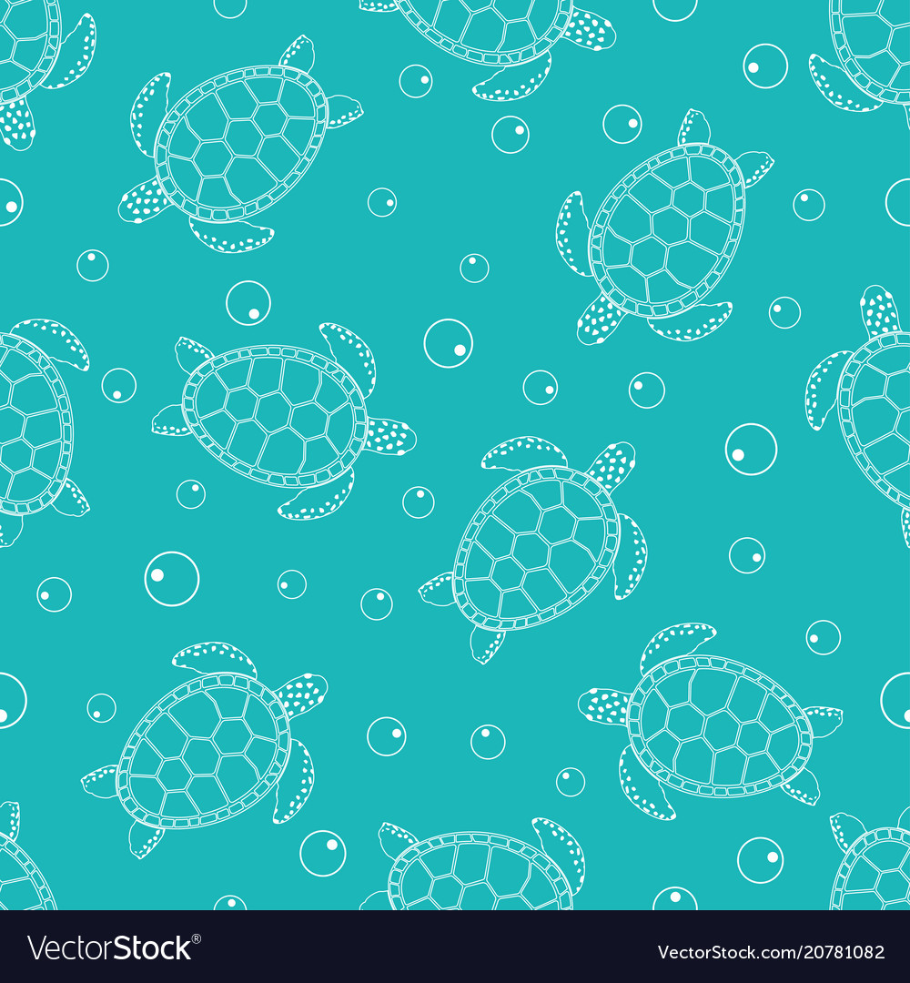 Pattern with sea turtles 2