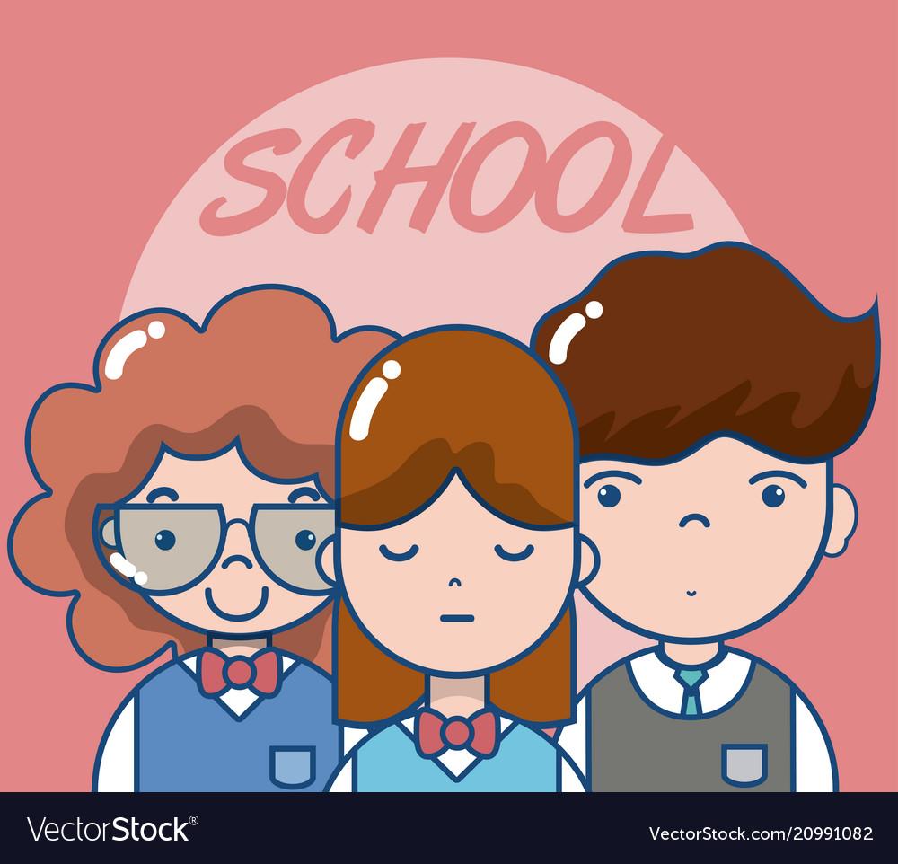 School teachers and students