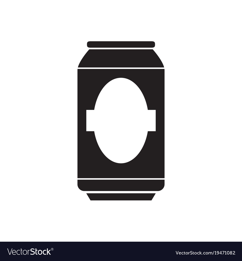 silhouette of a beer can royalty free vector image rh vectorstock com crushed beer can vector beer can label vector