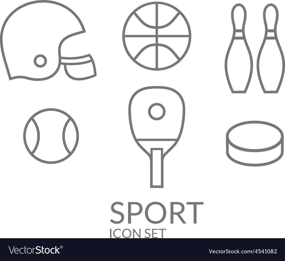 Sport Icon set Outline