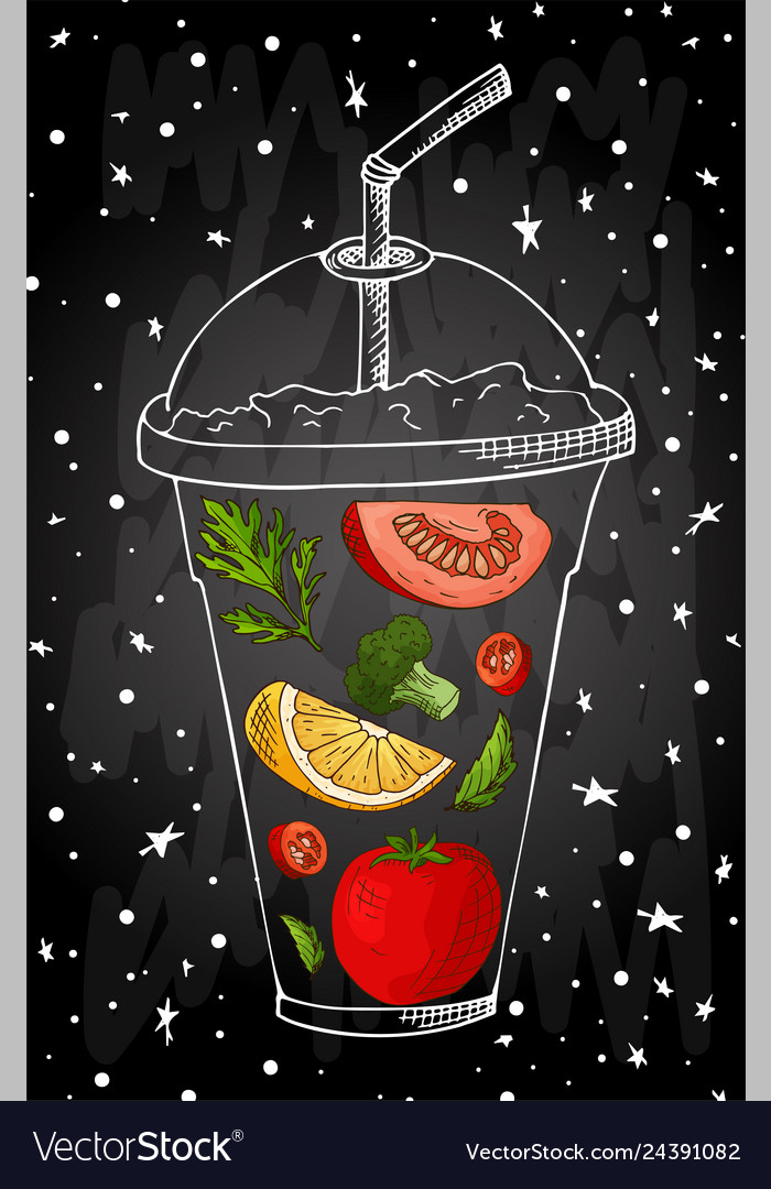 Summer fruit smoothie drink menu infographic