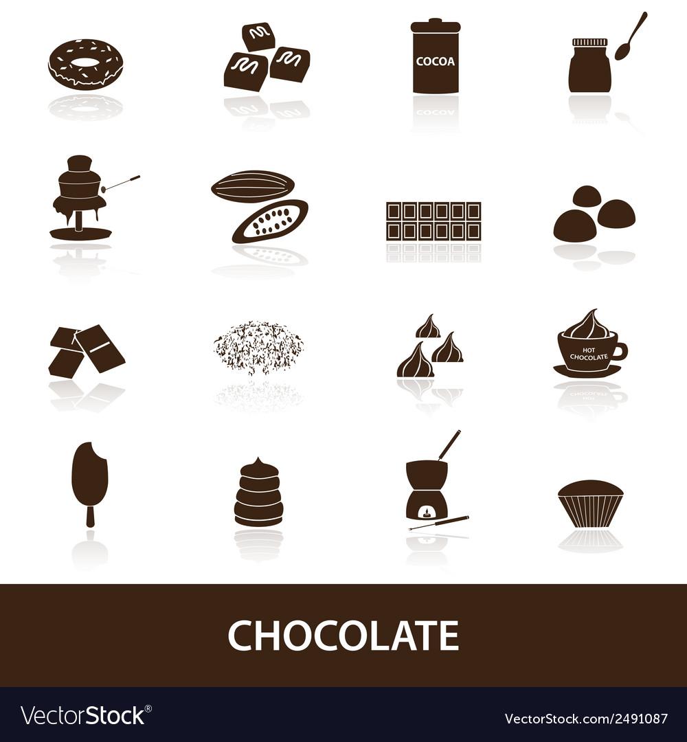 Chocolate icons set eps10