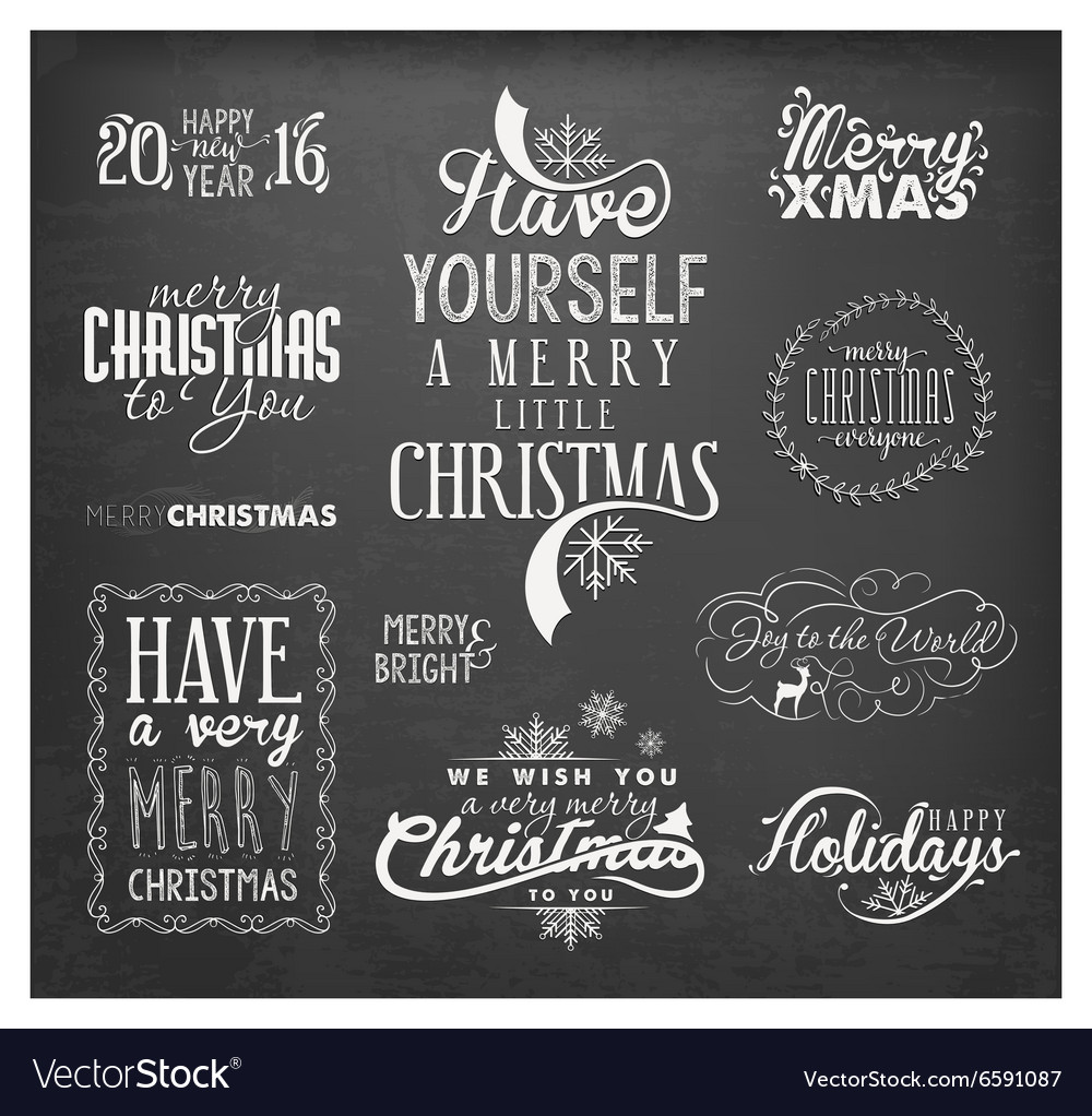 Christmas Design Elements Badges and Labels