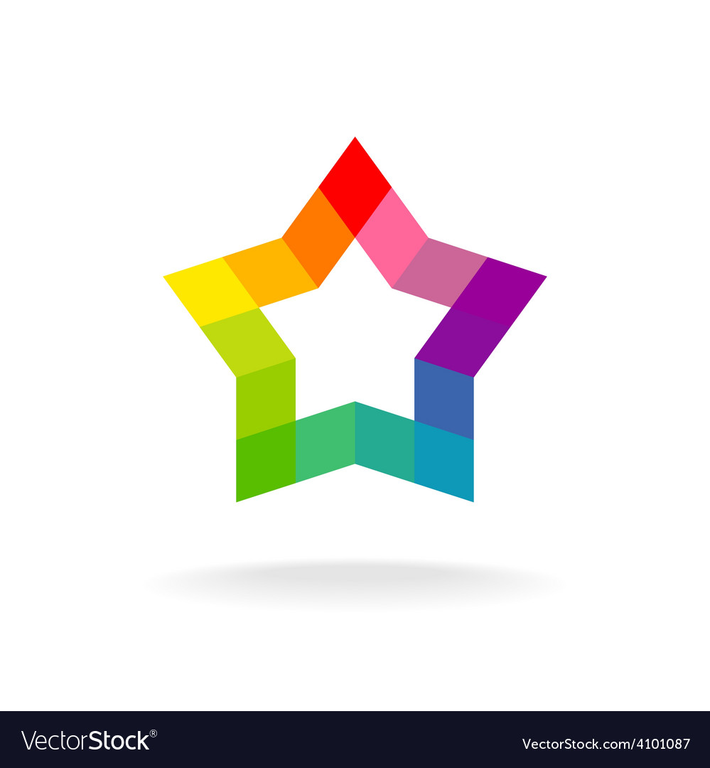 Colorful star sign Rhombus elements