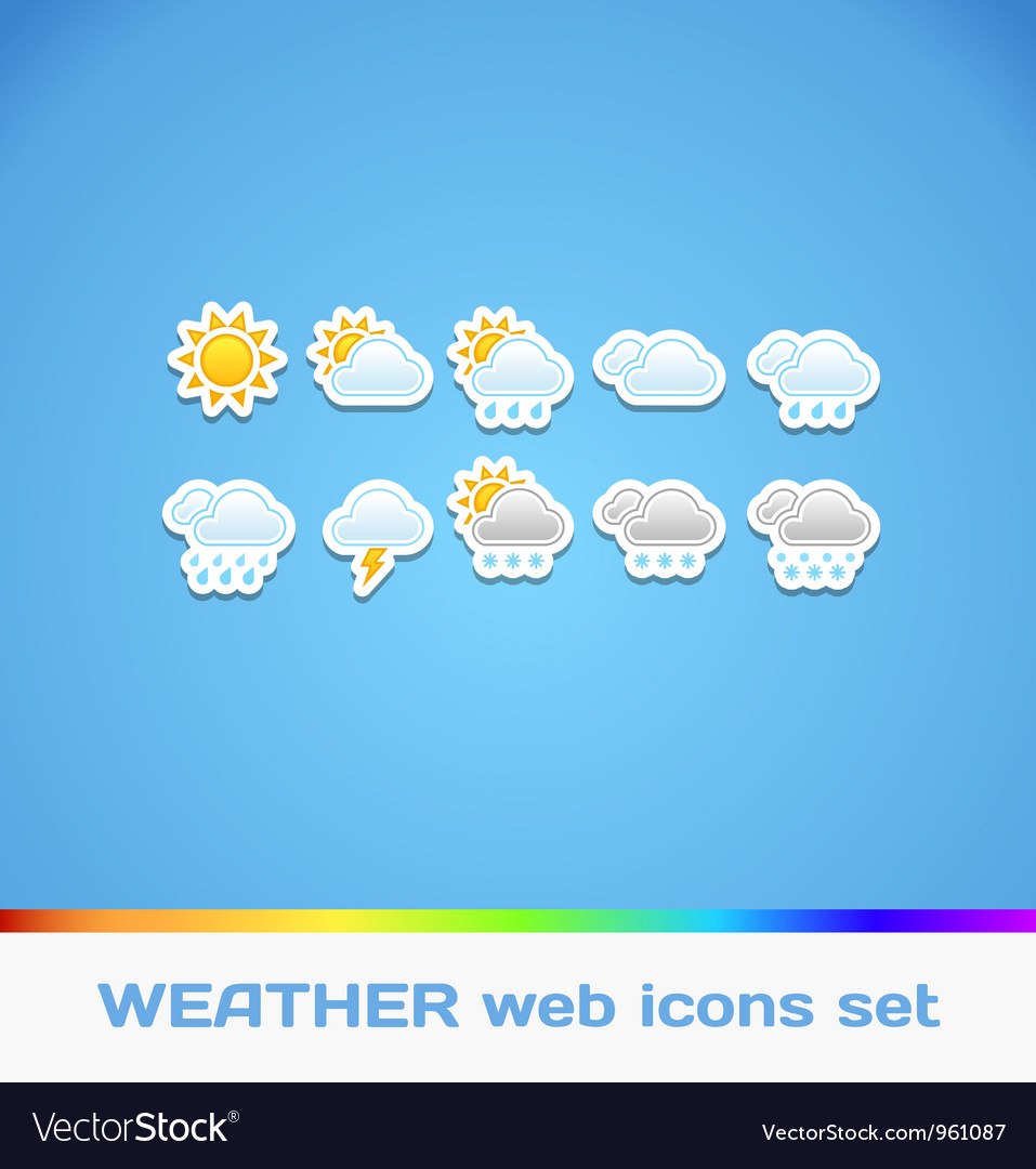 Colorful Weather Icons