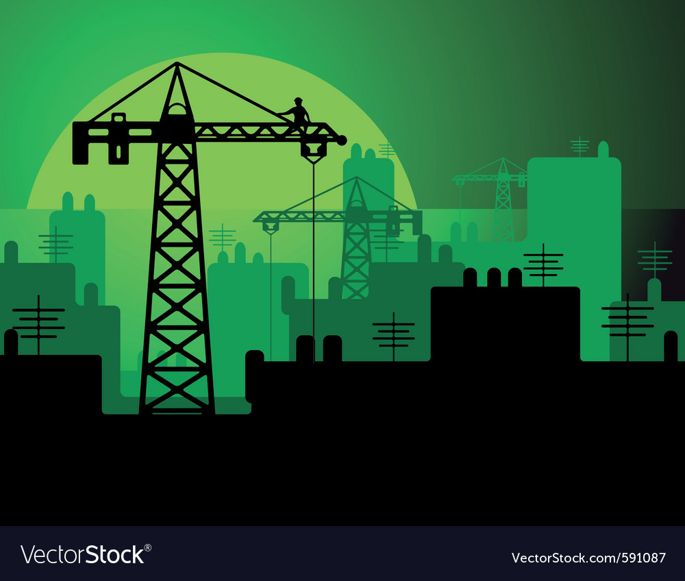 Construction in a city vector image