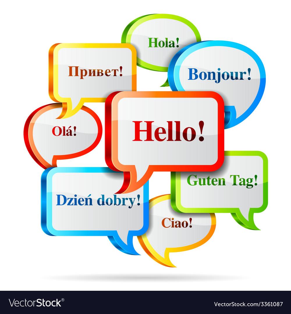 Hello speech bubbles