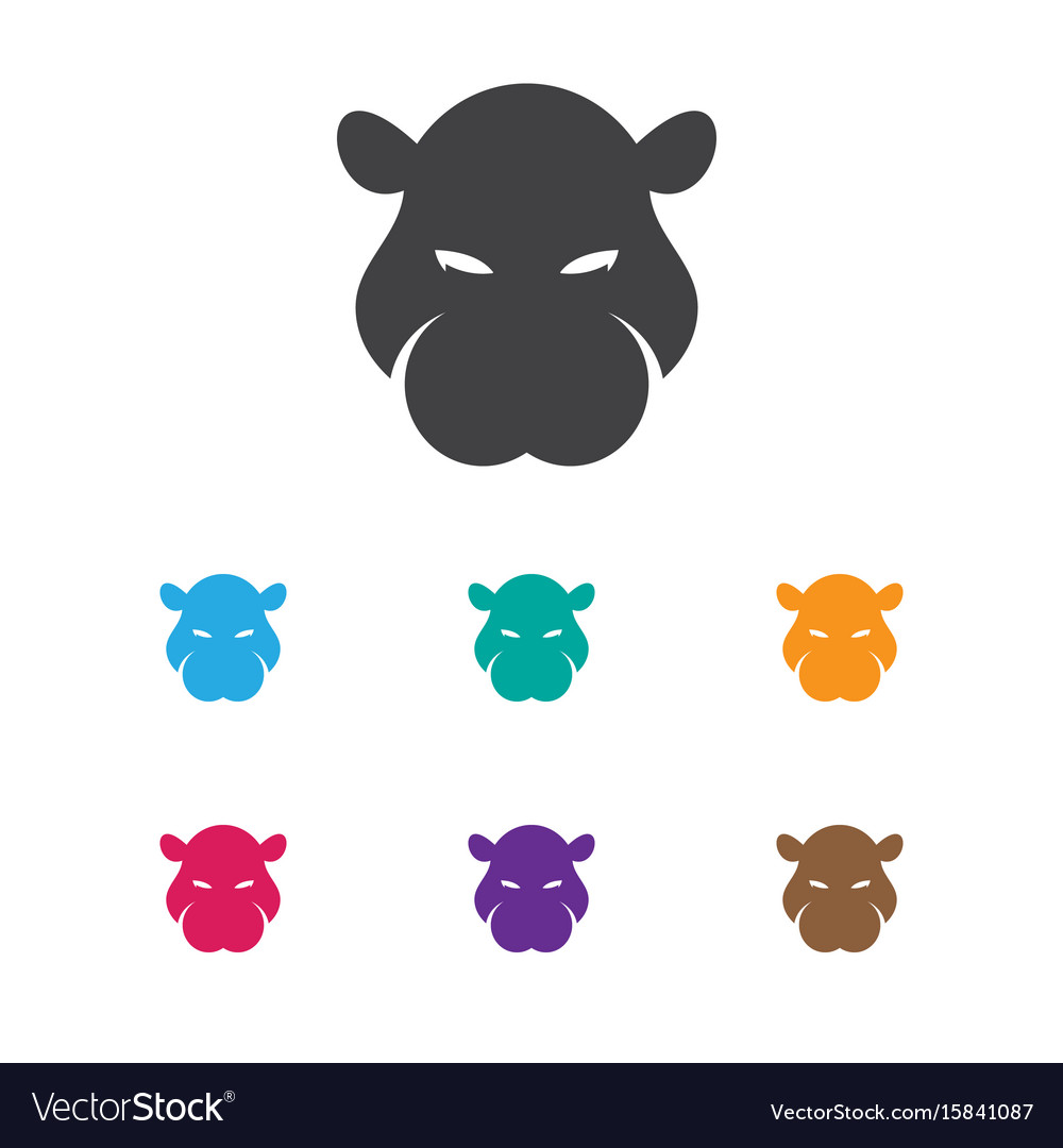 Of zoo symbol on hippo icon
