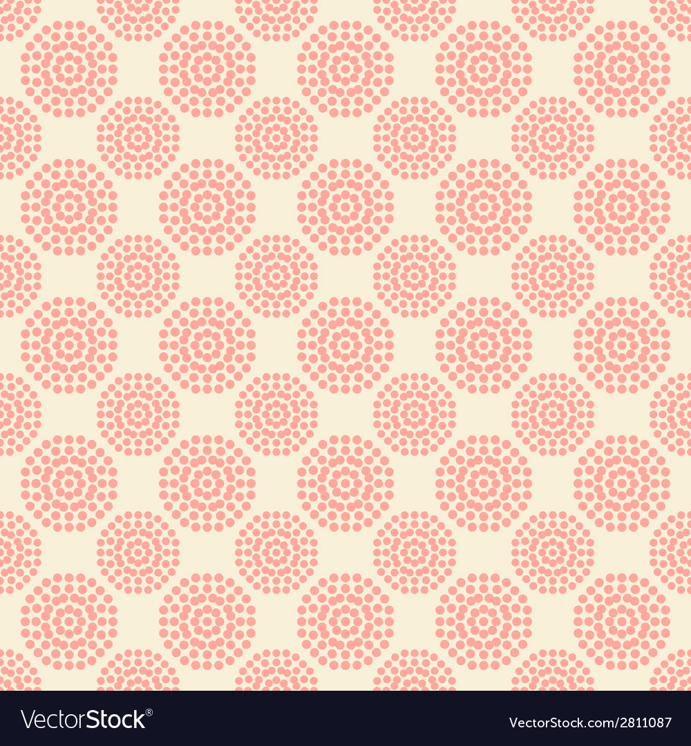 Seamless pattern with abstract pink flowers on