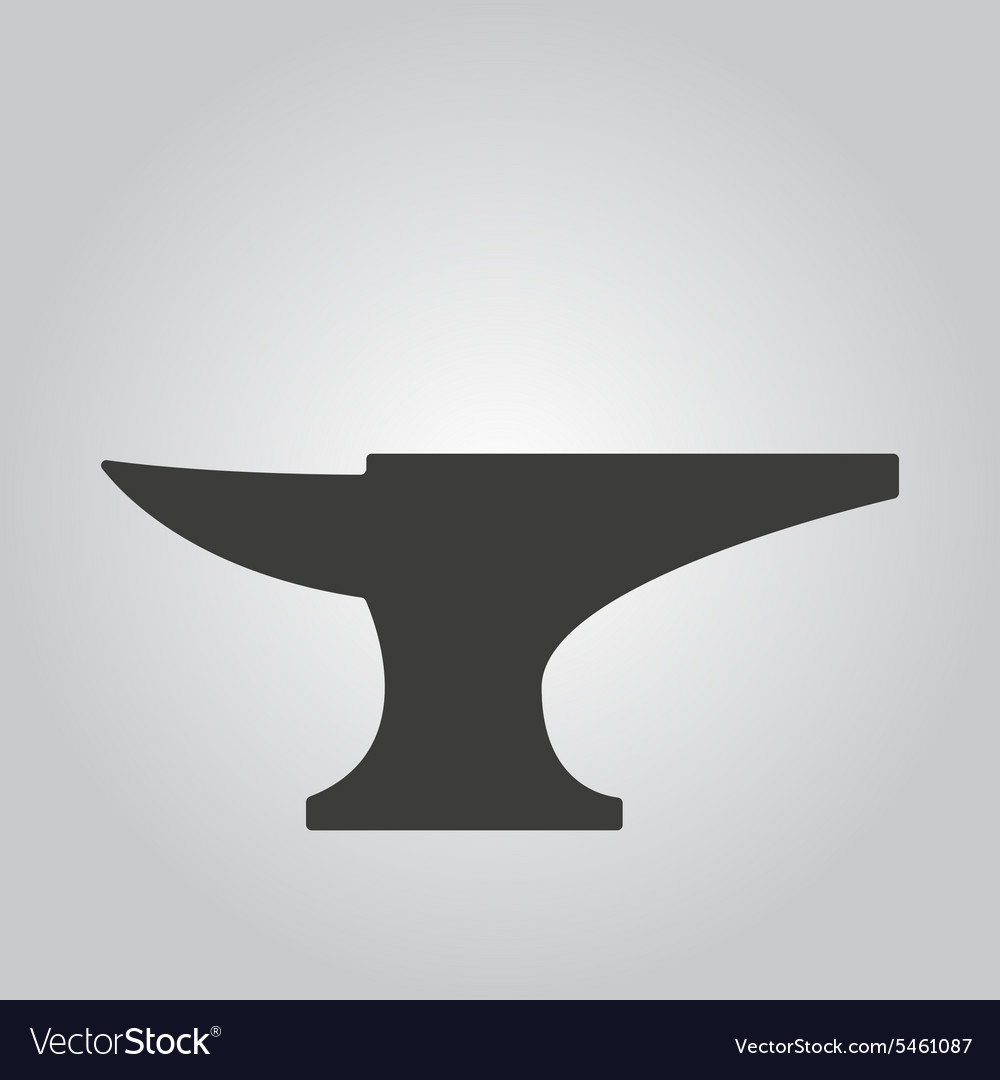 The anvil icon Smith and forge blacksmith symbol