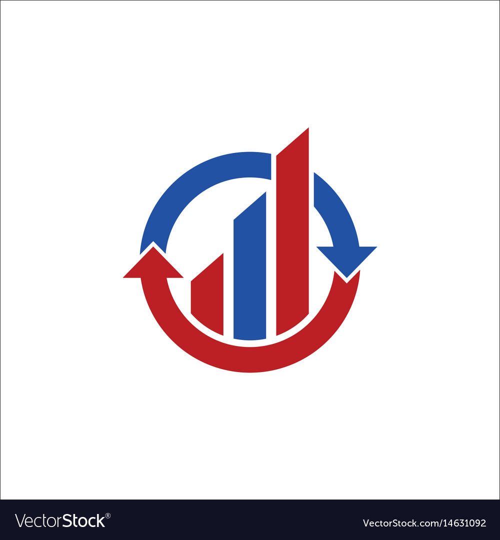 Business finance exchange arrow logo