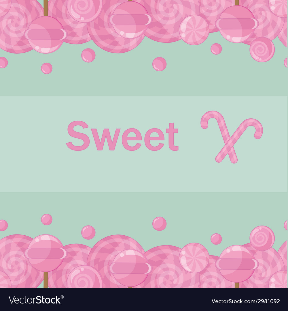 Candy lollipops seamless pattern background