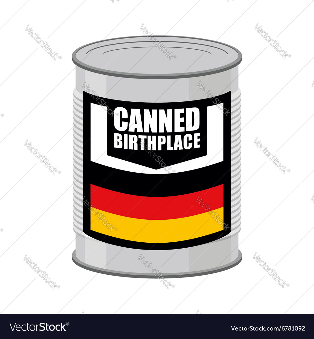 Canned birthplace Patriotic Preserved birthplace
