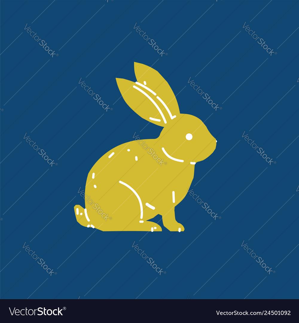 Cute bunny rabbit line art drawing