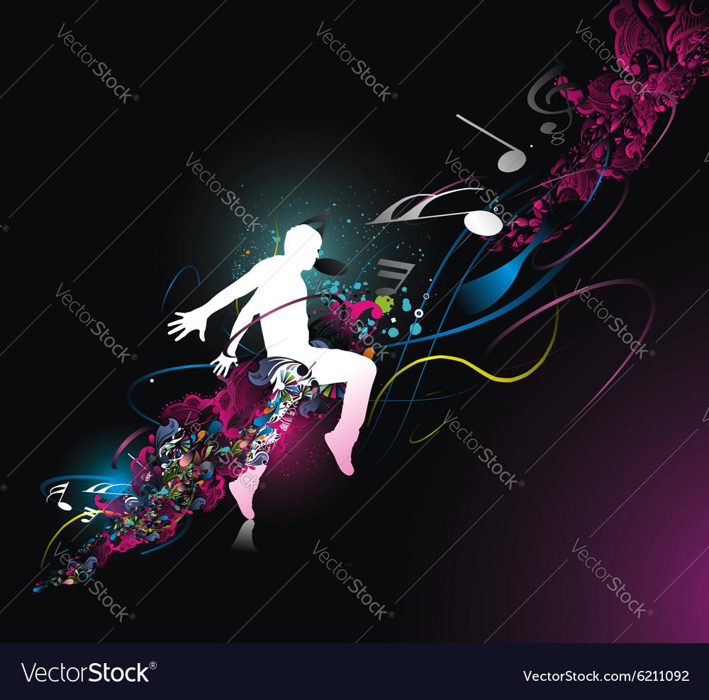 Dancing man vector image