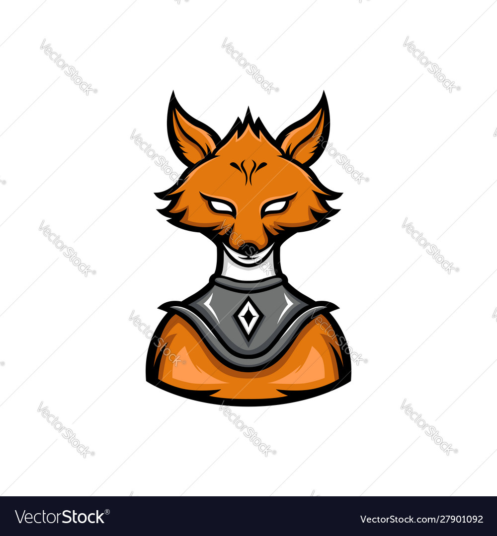 Fox warrior sport mascot logo