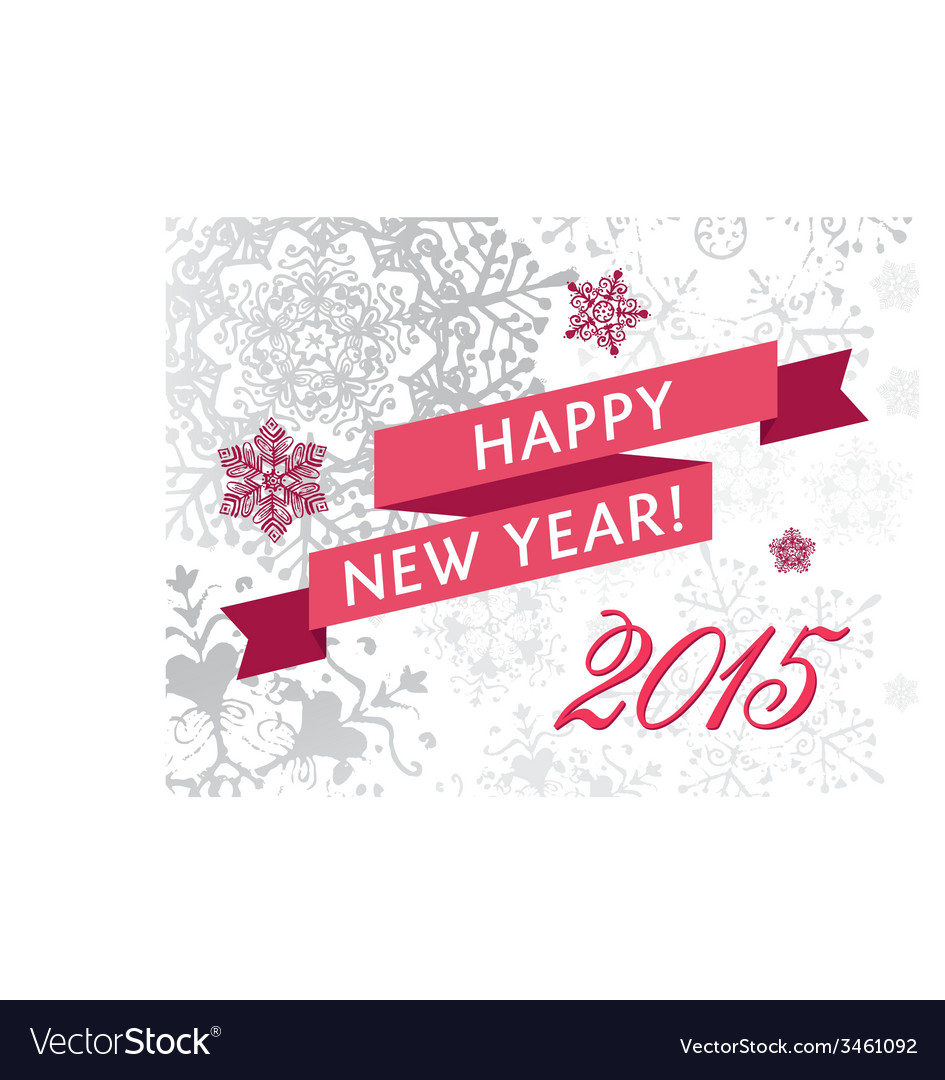 Happy new yearr 2015 card vector