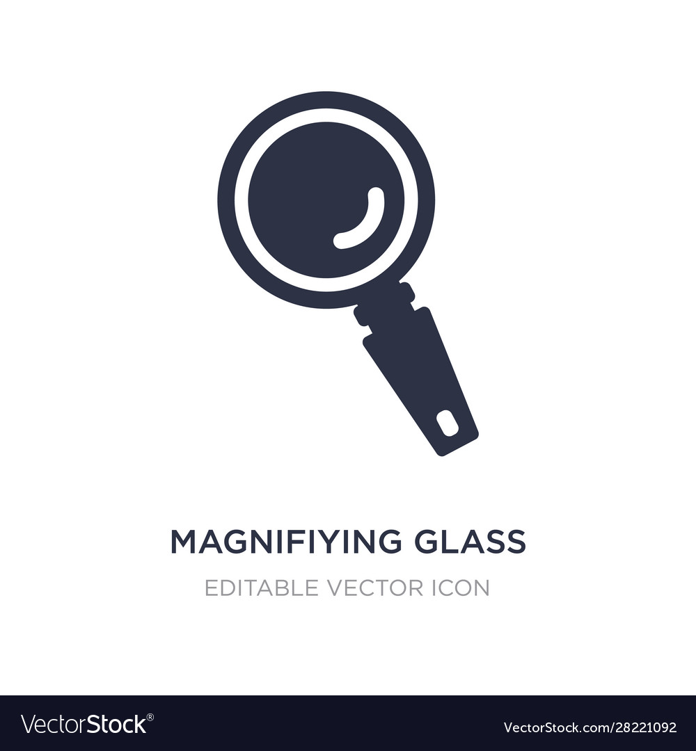 Magnifying glass icon on white background simple