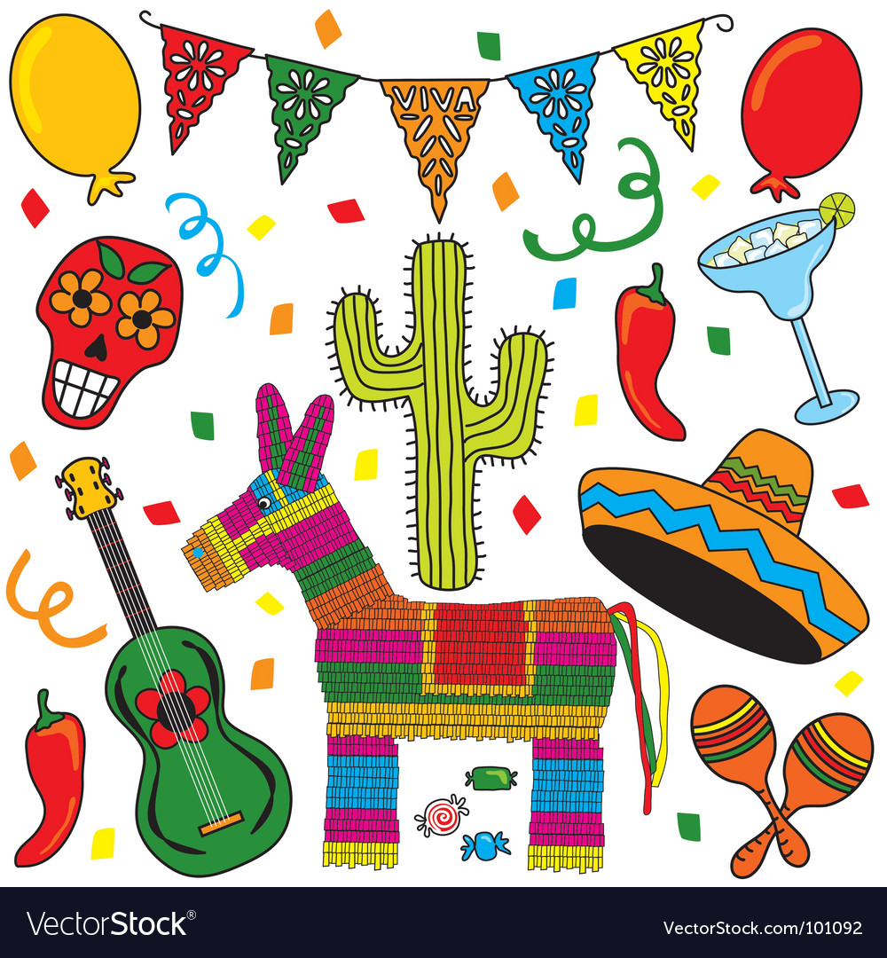 mexican fiesta party royalty free vector image