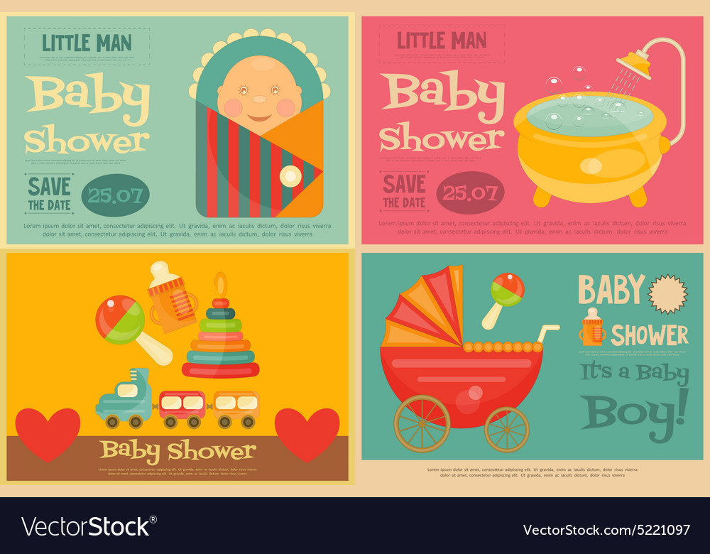 Baby posters vector image