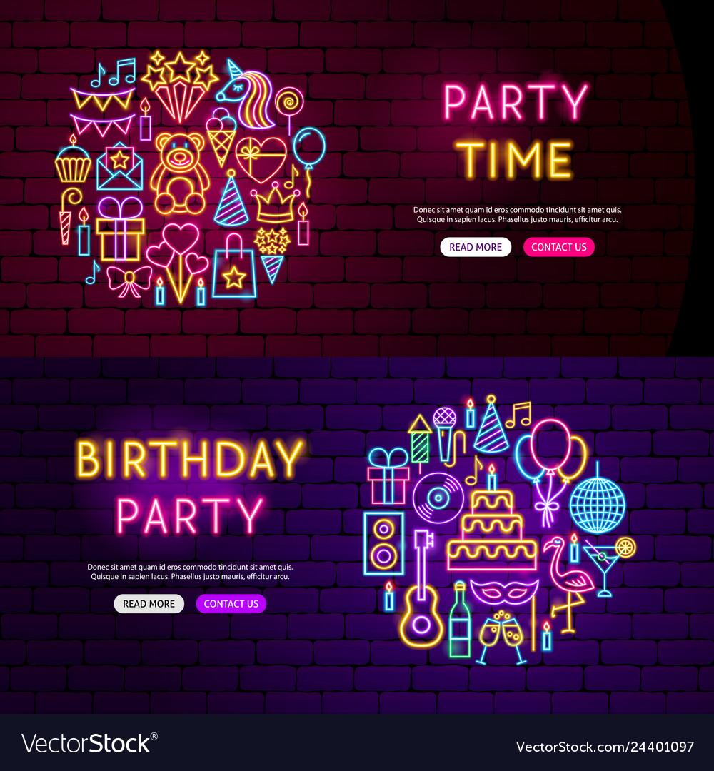 Birthday website banners