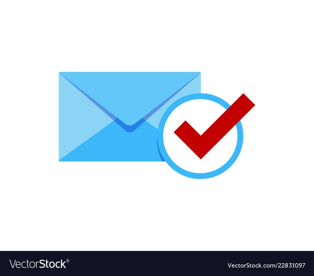 Check mail logo icon design