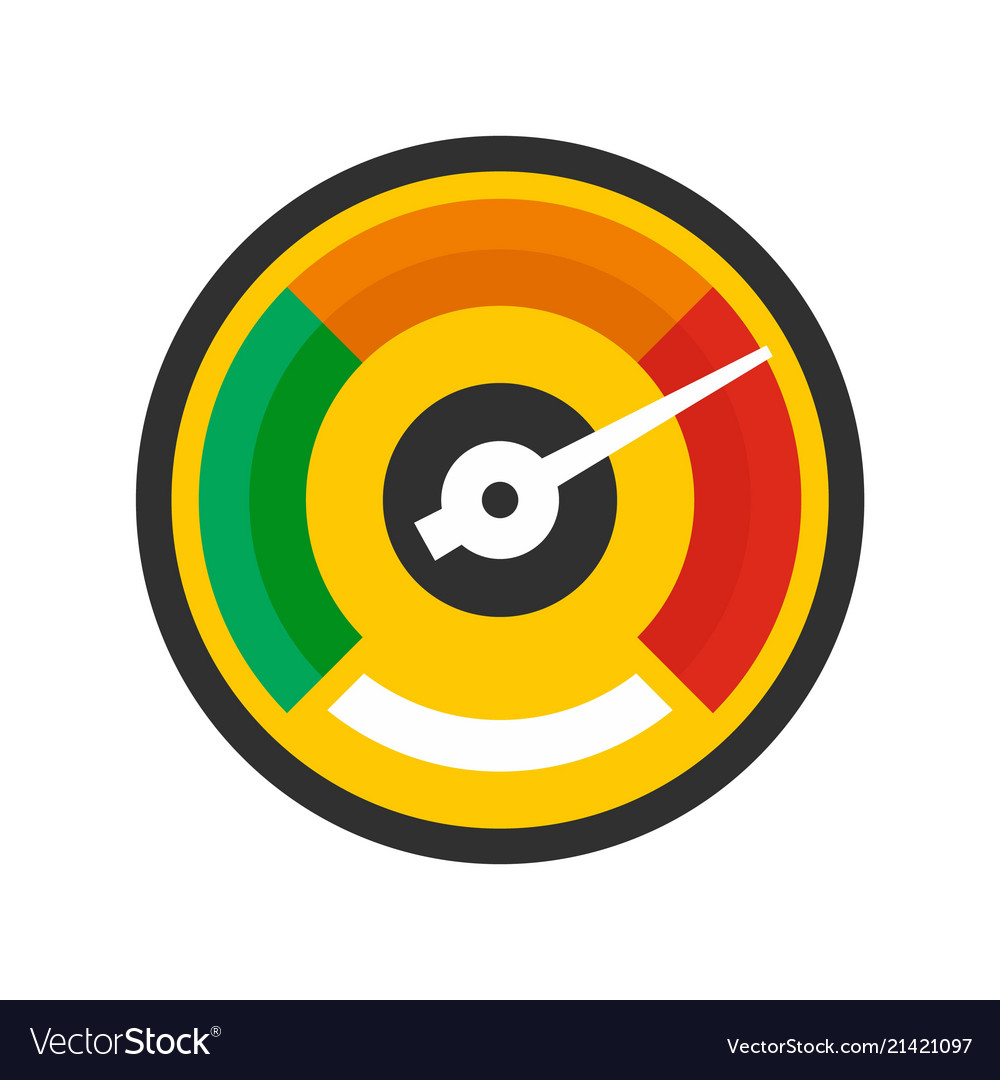 Colorful dashboard icon flat style