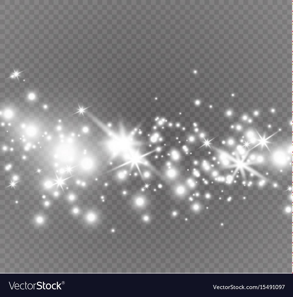 Dust on a transparent backgroundbright starsthe
