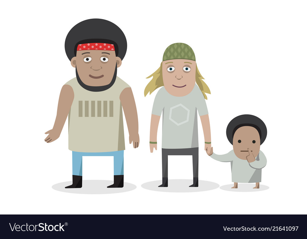 Happy family - cartoon people characters isolated