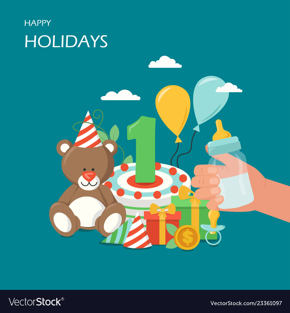 Happy holidays flat style design