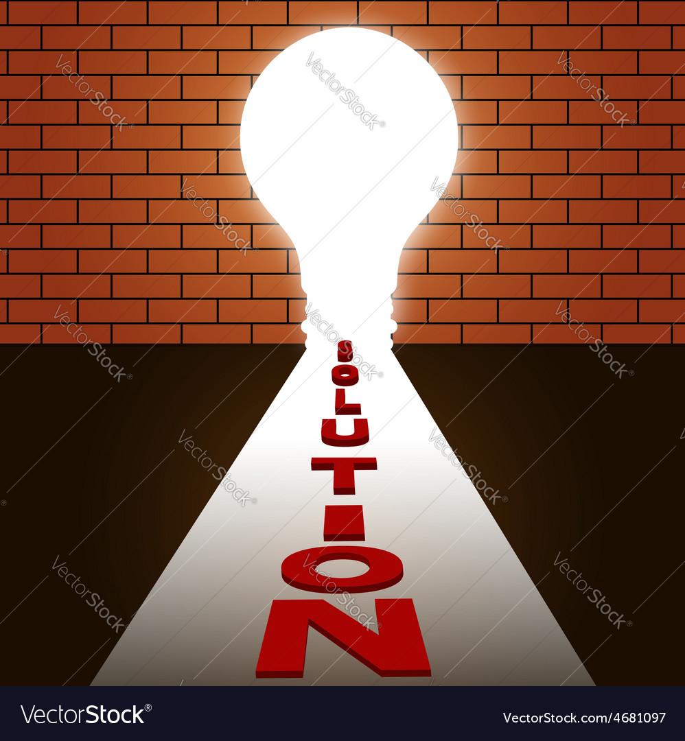 Idea make solution Idea concept