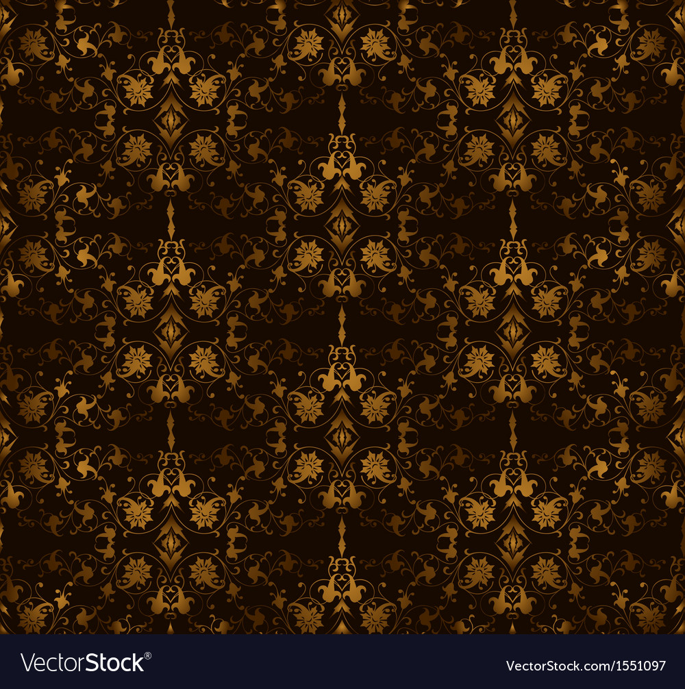 Seamless floral on a brown background