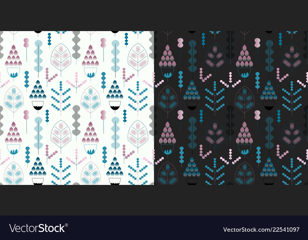 Seamless pattern with floral elements fantasy