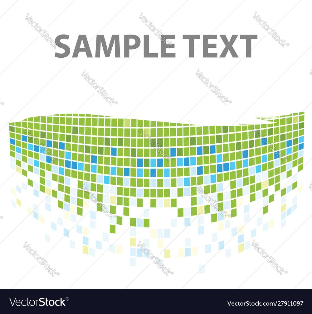 Squares mosaic texture green tones