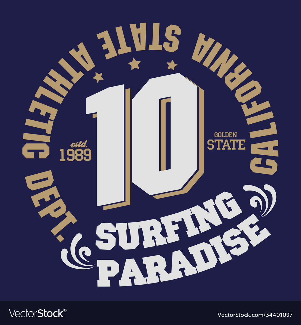 Surfing t-shirt graphic print design california