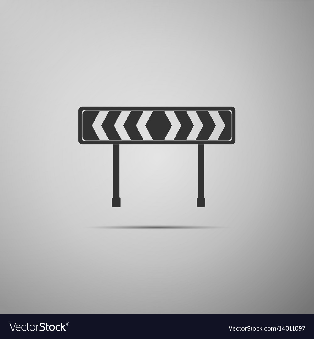 Traffic sign road road block sign vector image