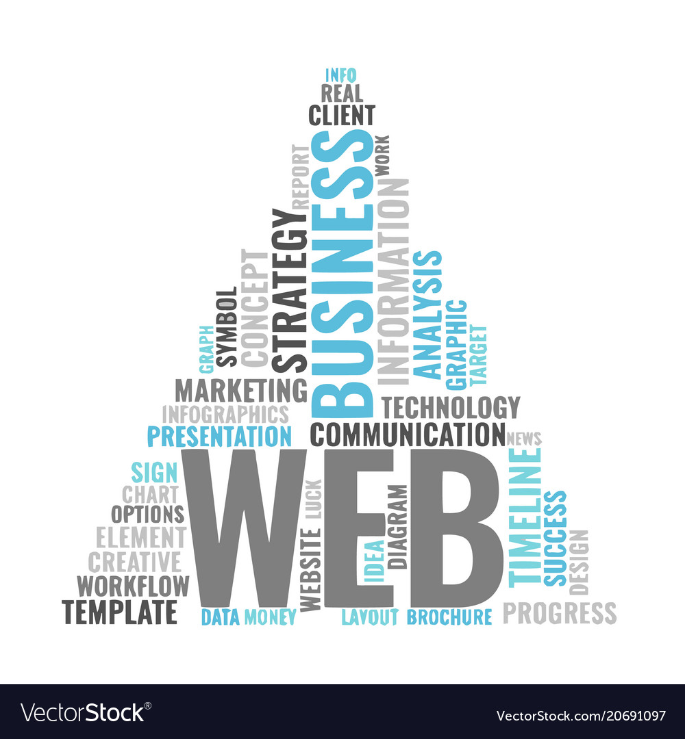 Web marketing word cloud bussiness concept vector image maxwellsz
