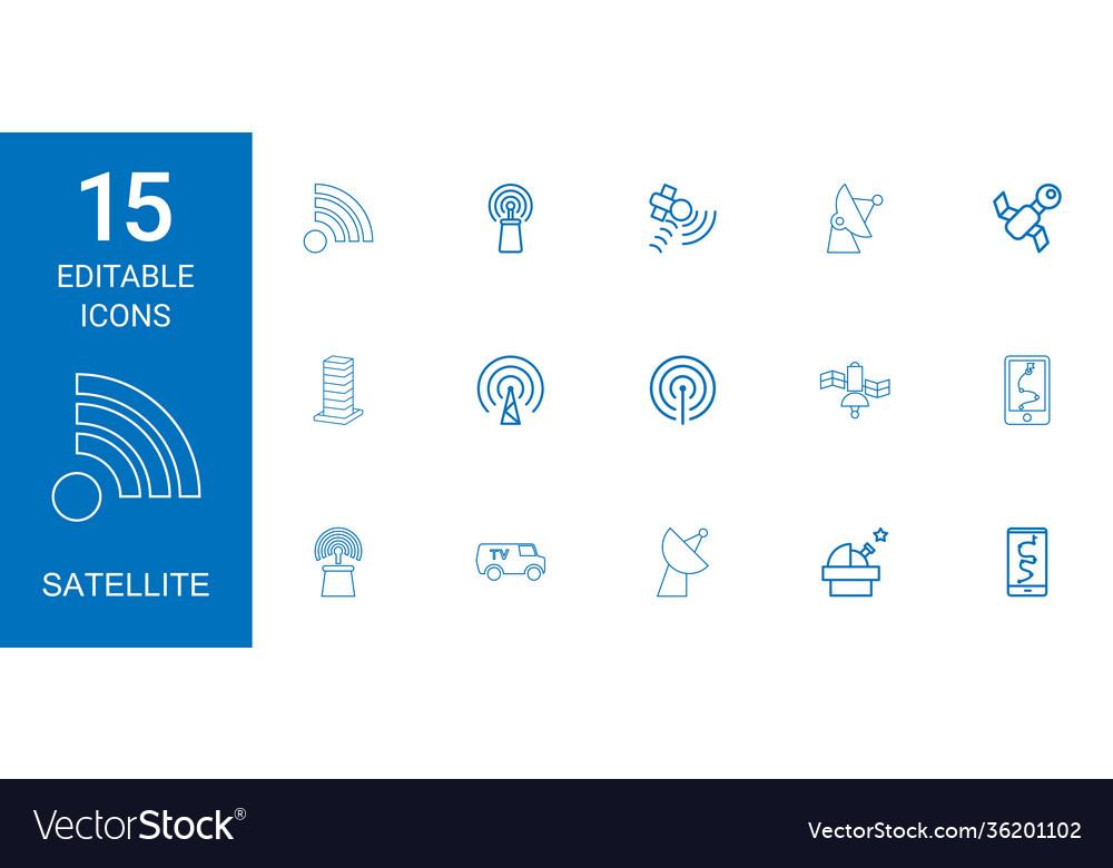 15 satellite icons