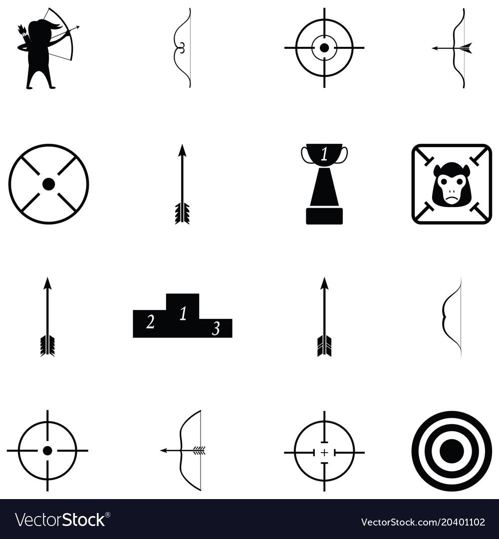 Archery icon set