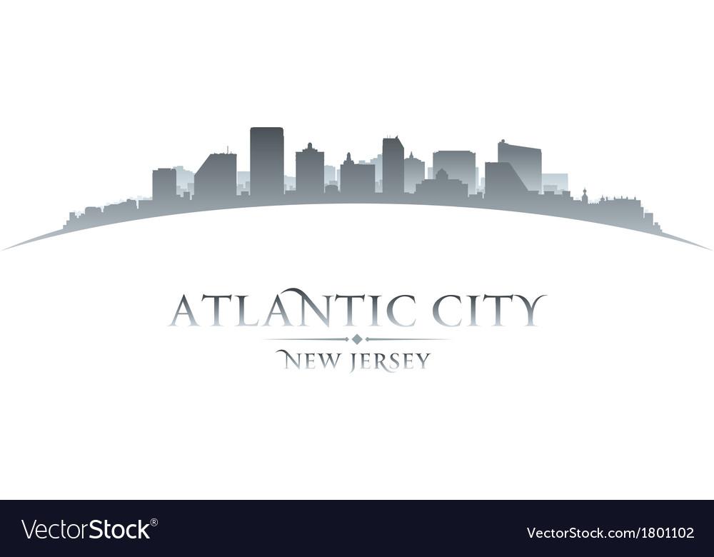 Atlantic city New Jersey skyline silhouette