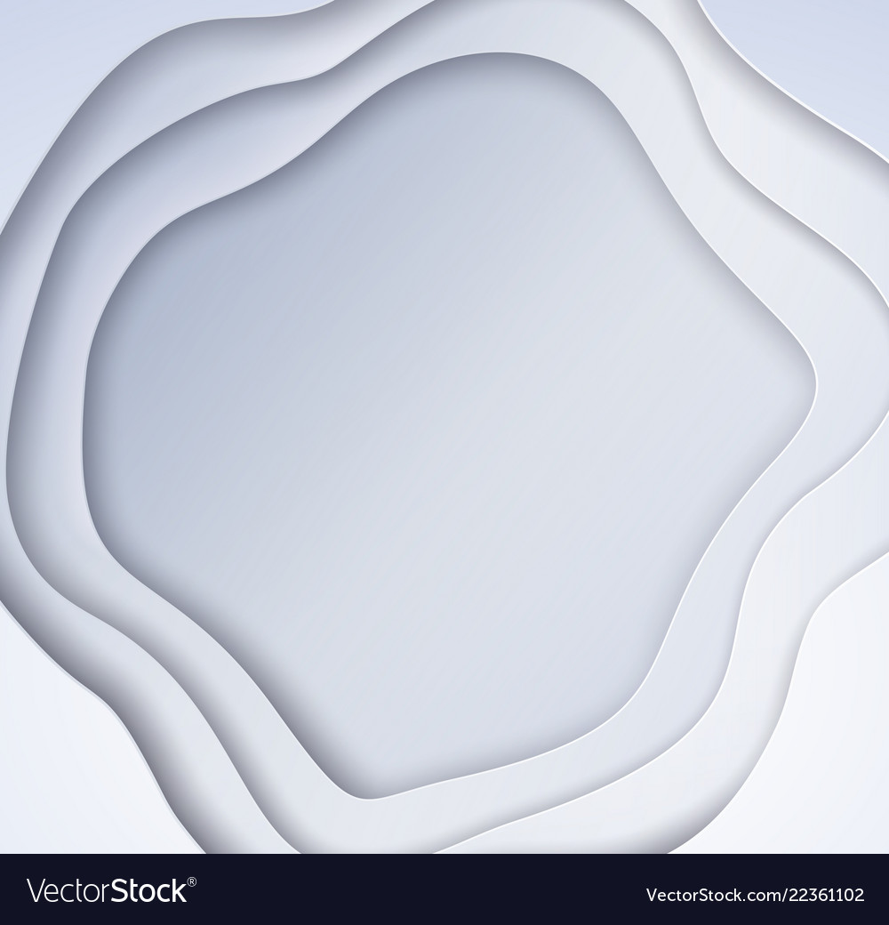 Cut paper style background with waves