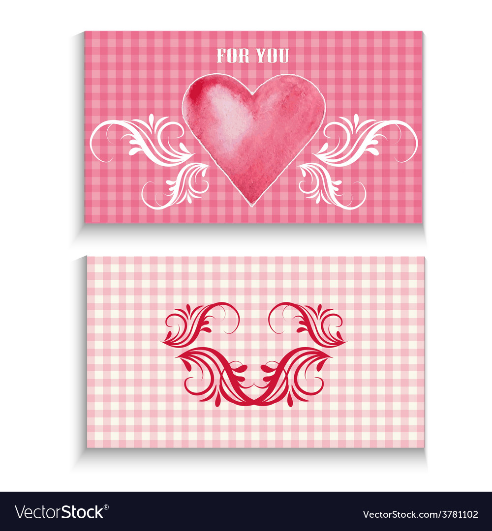 Flyer card with heart