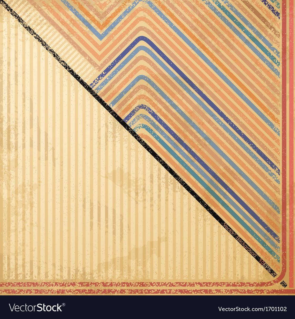 Grunge striped background vector image