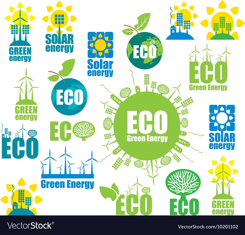 Icons on environment and alternative energy