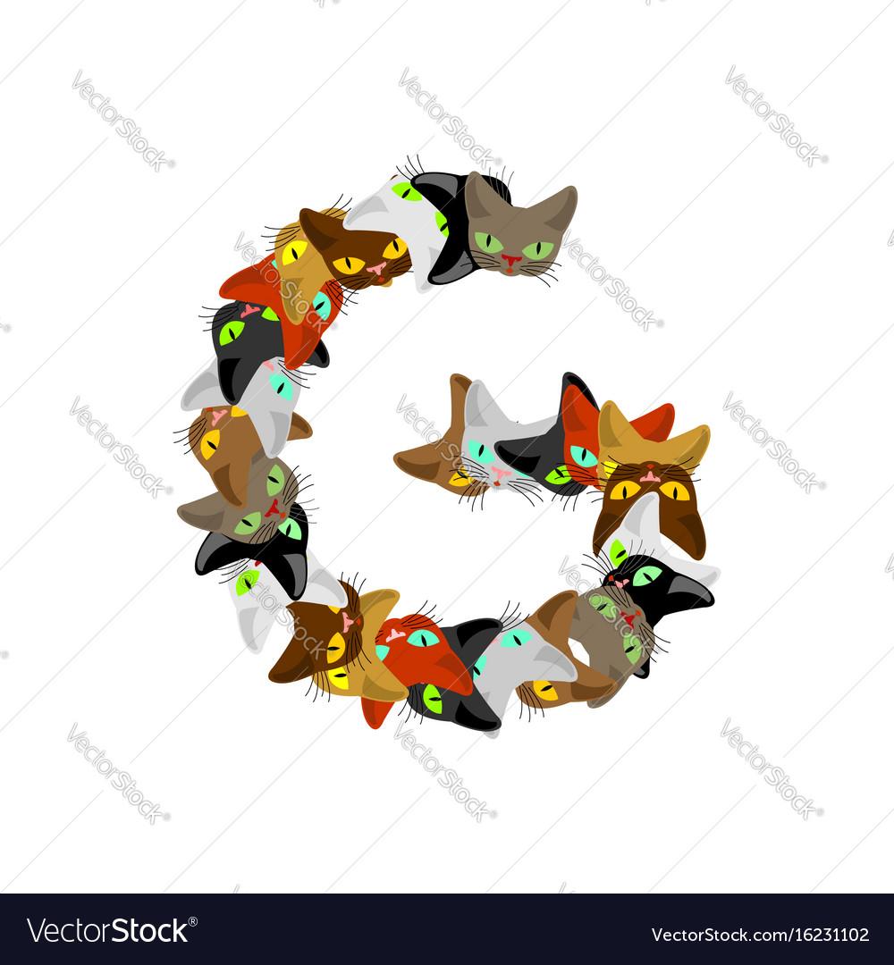 Letter g cat font pet alphabet symbol home animal